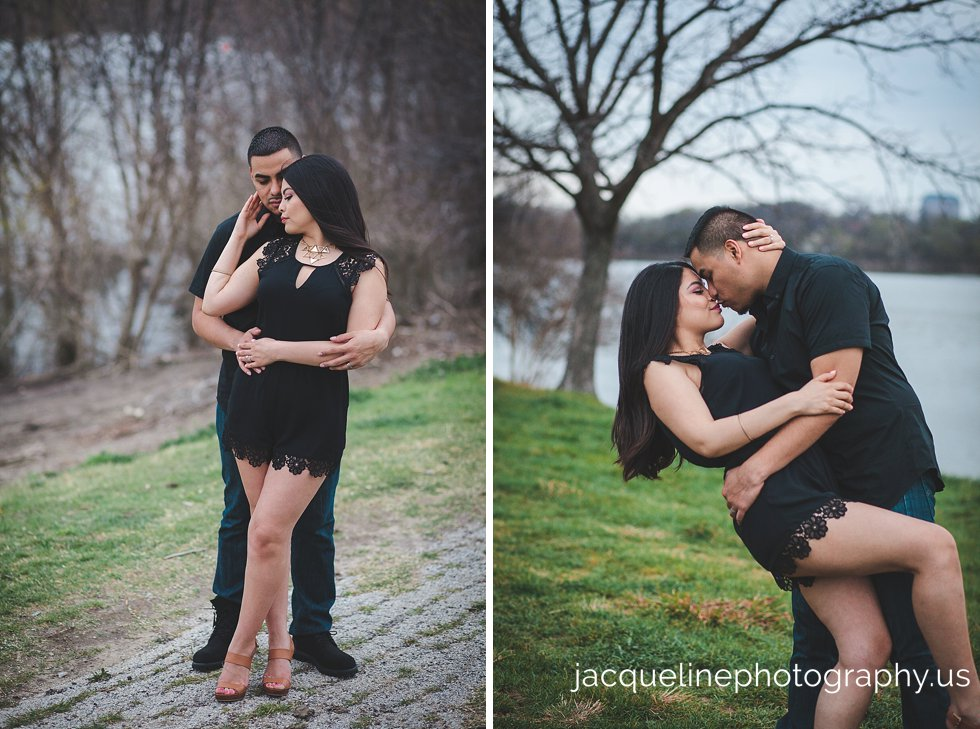 Engagement session in dallas tx wearing black colors what to wear