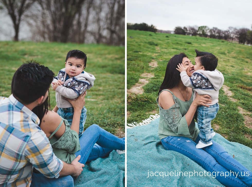 One year old with family session